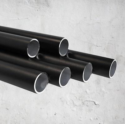 Aluminium steigerbuizen zwart