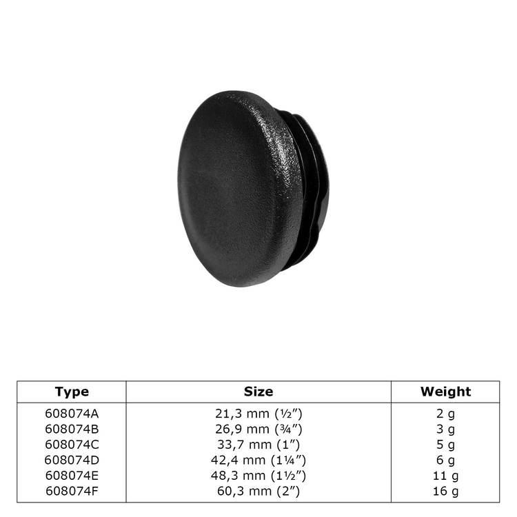 Buiskoppeling Insteekdop plastic-D / 42,4 mm