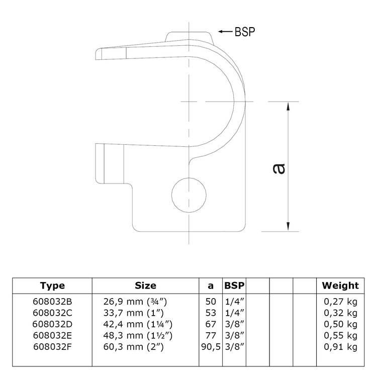 Buiskoppeling Open T-Stuk-D / 42,4 mm