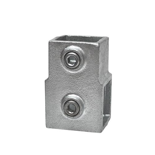 Buiskoppeling Kort T-stuk - vierkant-40 mm