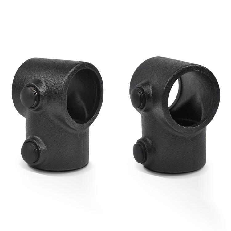 Afdekdop zwart t.b.v. stelschroef-DEF / 42,4 mm, 48,3 mm en 60,3 mm