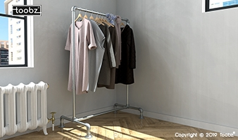 Steigerbuis kledingrekken