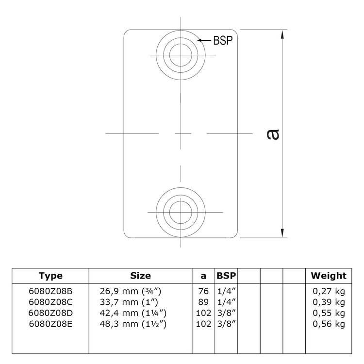 Doos Koppelmof - zwart-B / 26,9 mm