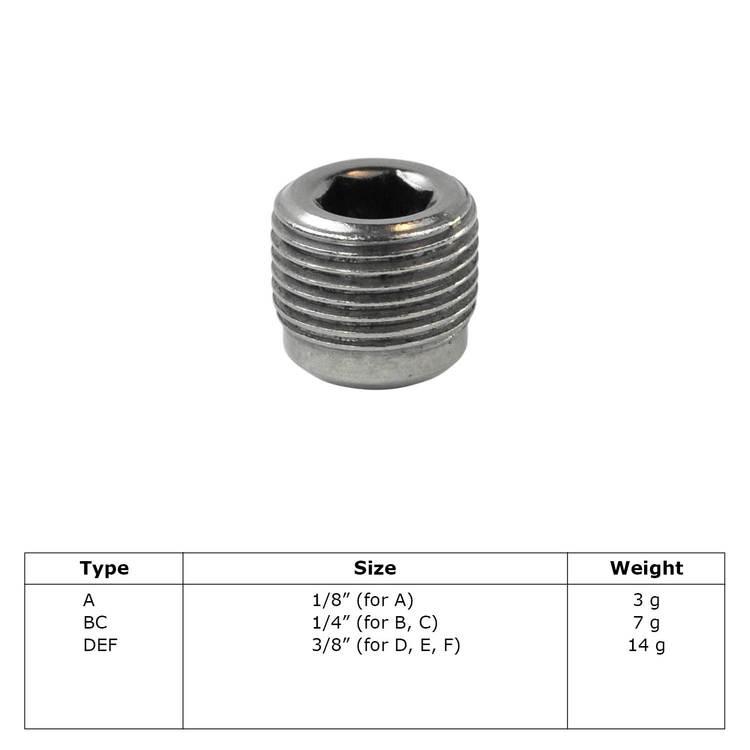 Buiskoppeling Stelschroef-A / 21,3 mm