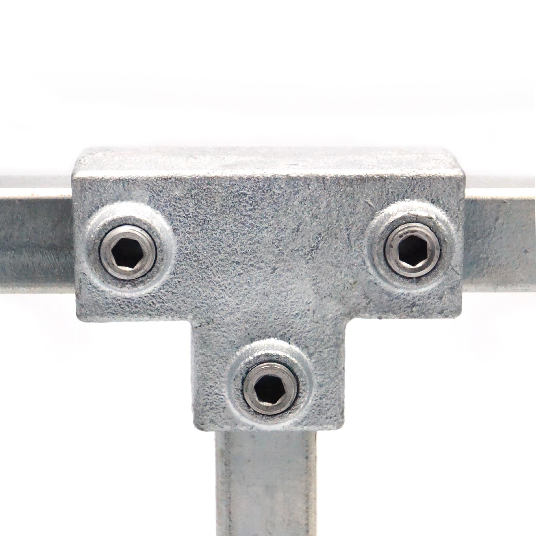 Buiskoppeling Lang T-stuk - vierkant-25mm