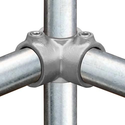 Buiskoppeling Hoekstuk doorlopende staander-E / 48,3 mm