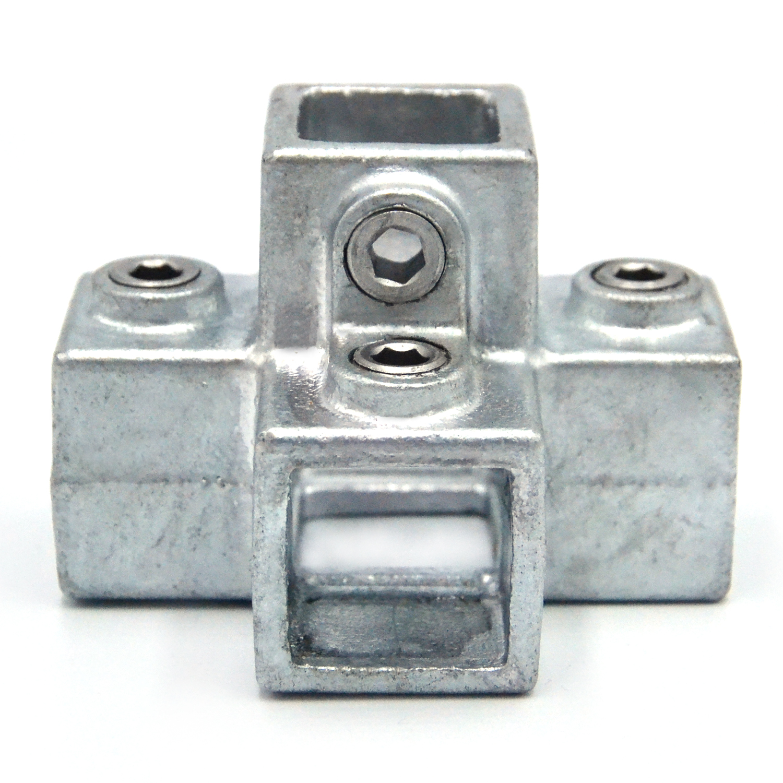 Buiskoppeling 4-weg kruisstuk - vierkant-25 mm