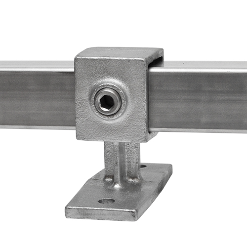 Buiskoppeling Leuningdrager - vierkant-40 mm