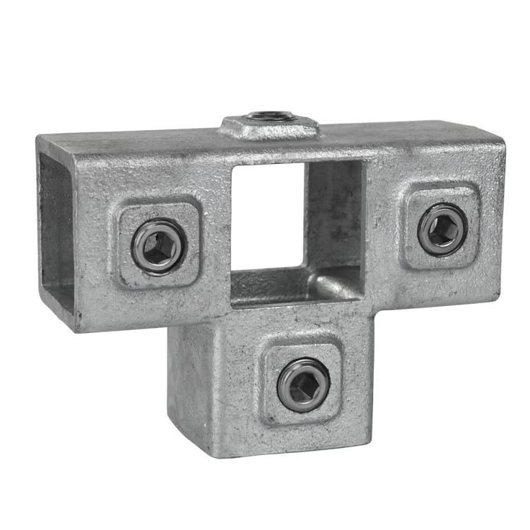 Buiskoppeling T-Stuk met zij-uitgang - vierkant