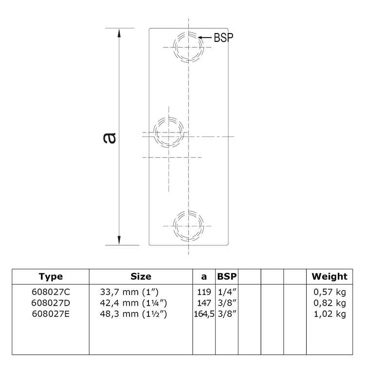 Buiskoppeling Railingbevestiging tot 45°-E / 48,3 mm