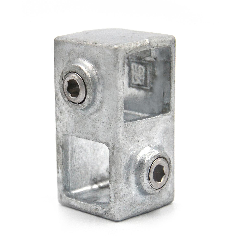 Buiskoppeling Kruisstuk 90° - vierkant-25 mm