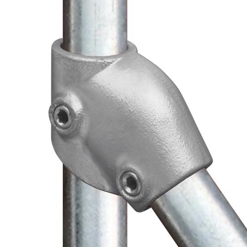 Buiskoppeling Verstelbaar kort T stuk-E / 48,3 mm
