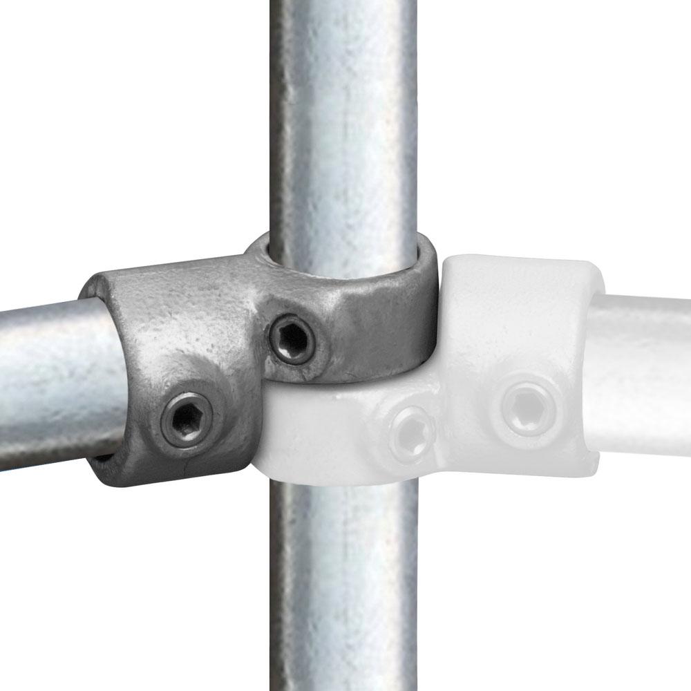 Buiskoppeling Verstelbaar hoekstuk -E / 48,3 mm